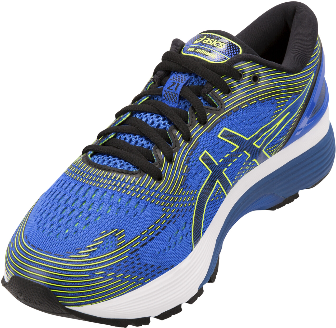 f5ef84939 asics Gel-Nimbus 21 Shoes Men illusion blue black at Bikester.co.uk